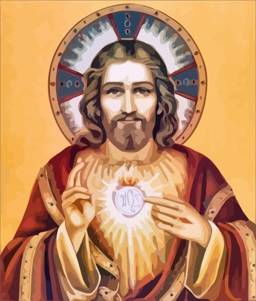 jesus christ sacred love peace faith