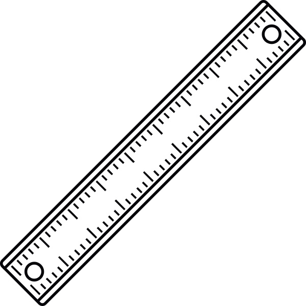 ruler rectangular shape icon