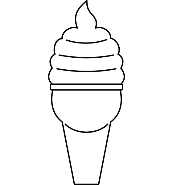 ice cream icon outline style