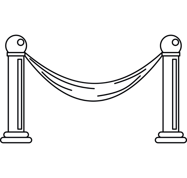 barrier icon outline style