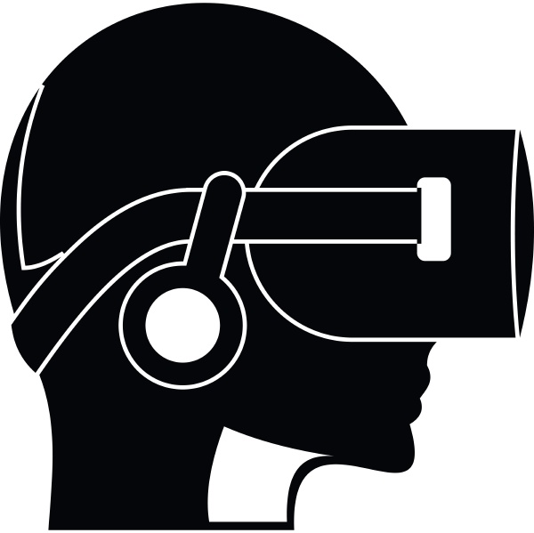 vr headset icon simple style
