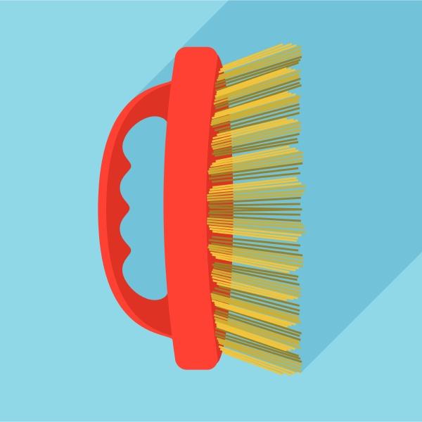 body brush icon flat style