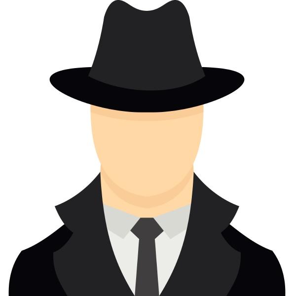 spy icon flat style