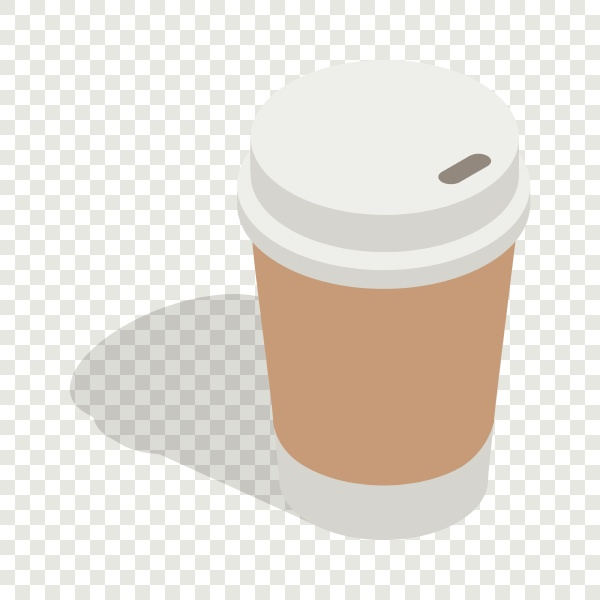 paper cup of coffee isometric icon