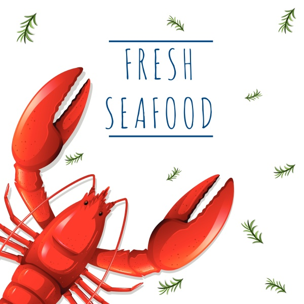 a fresh seafood template
