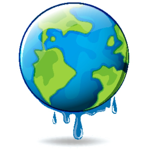 global warming with earth melting