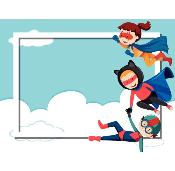 super hero border frame