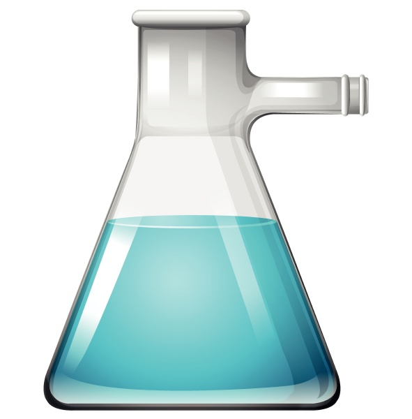 blue chemical mixture in glass