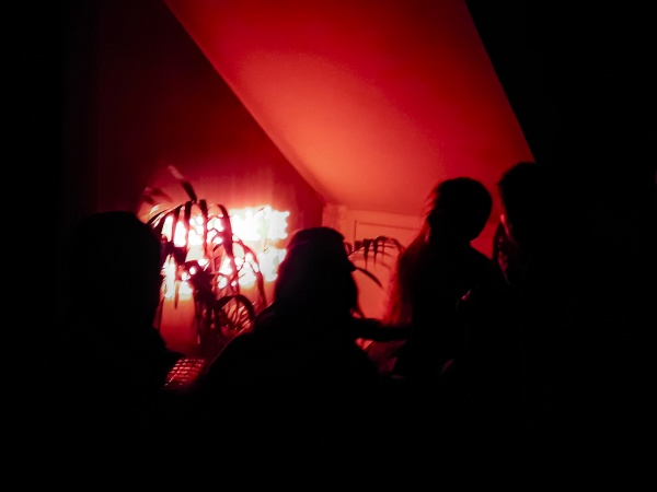 night club high contrast scene
