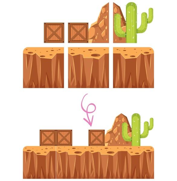 game elelment desert scene template