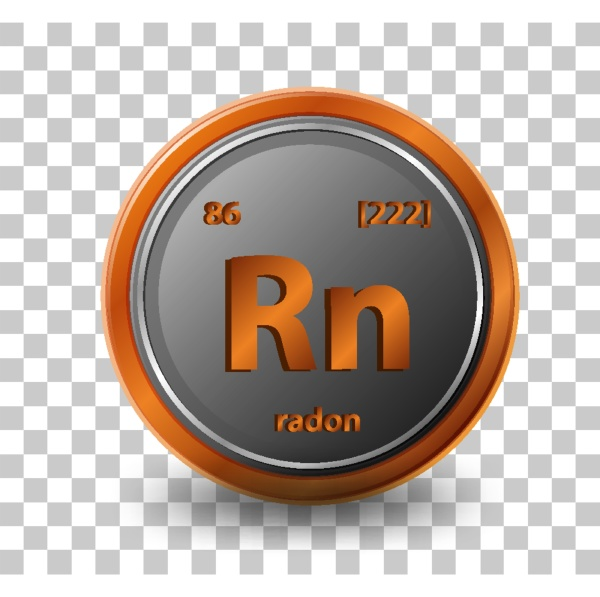 radon chemical element chemical symbol with