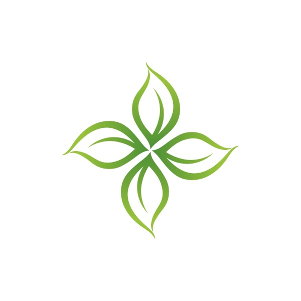 green leaf logo nature