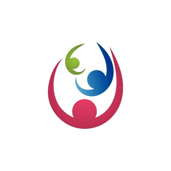 community family logo vector