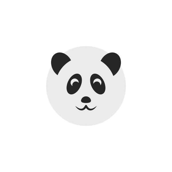 panda icon logo vector illustration