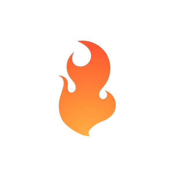 fire flame logo vector illustration desig