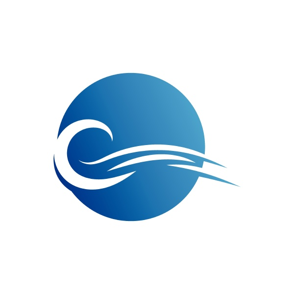 water wave icon vector template logo