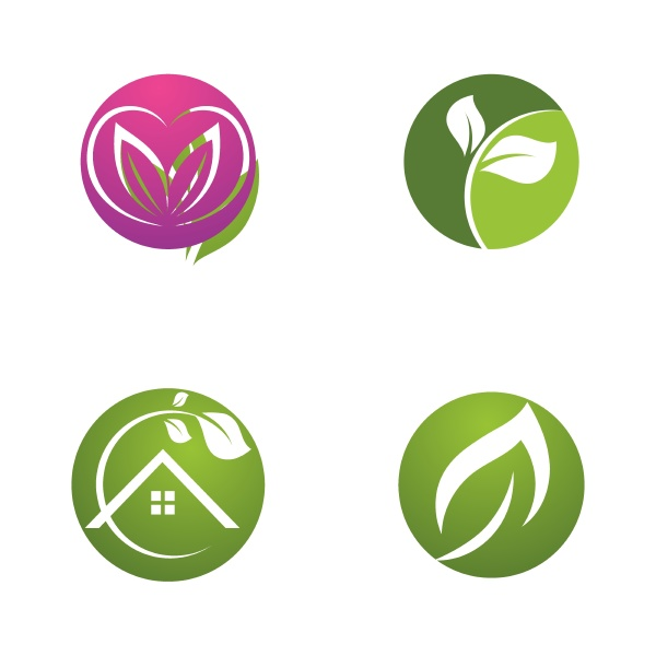 leaf green nature ecology element vector
