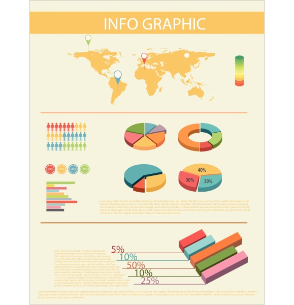 an infochart with a map
