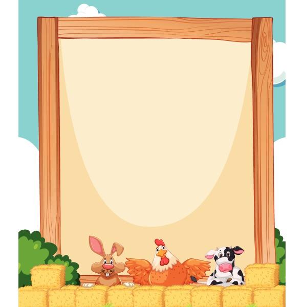 farm animal on banner template