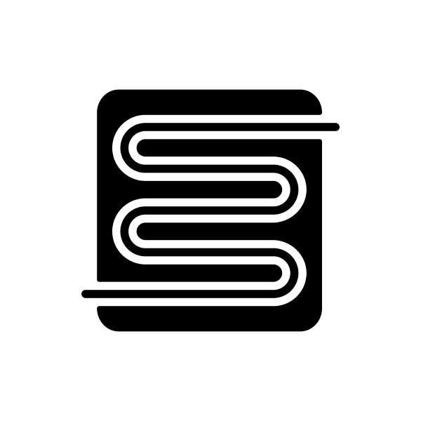 warm floor vector glyph icon