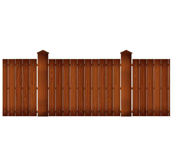 wooden fence with posts