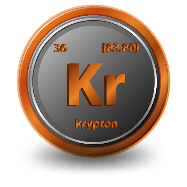 krypton chemical element chemical symbol with