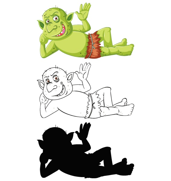 goblin or troll in color and