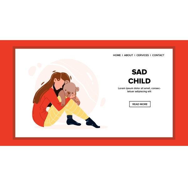 sad child girl lonely sitting on