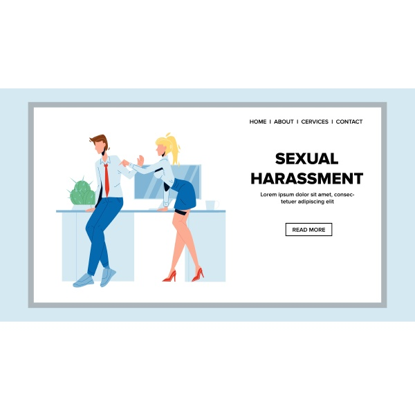 sexual harassment employer to colleague vector