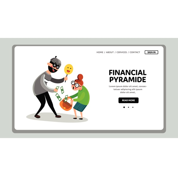 financial pyramid steals money old people