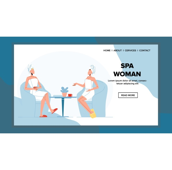 spa woman relaxing after hygiene procedure