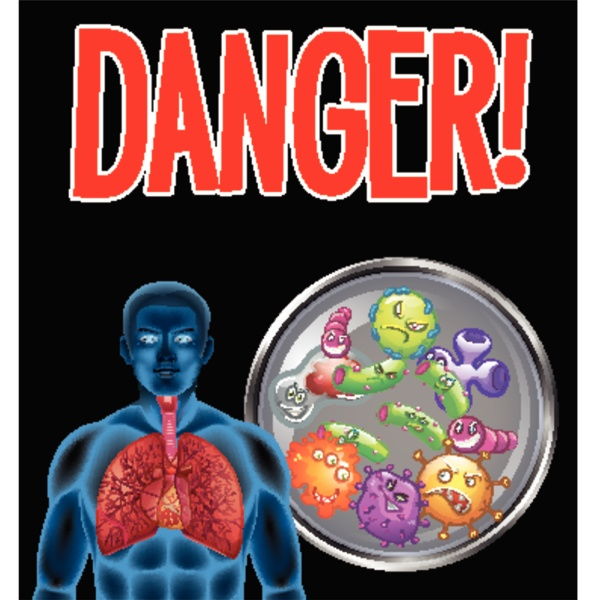 coronavirus theme with word danger and