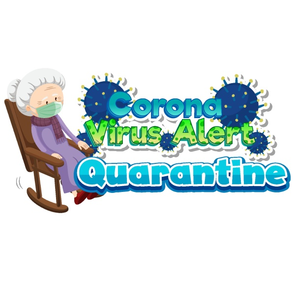 coronavirus theme with old lady and