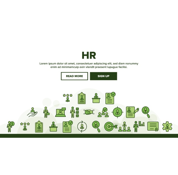 collection hr human resources icons set