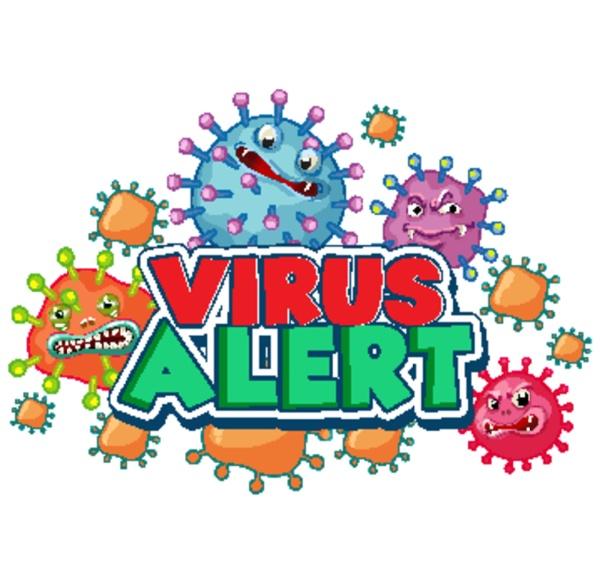 coronavirus poster design for word virus
