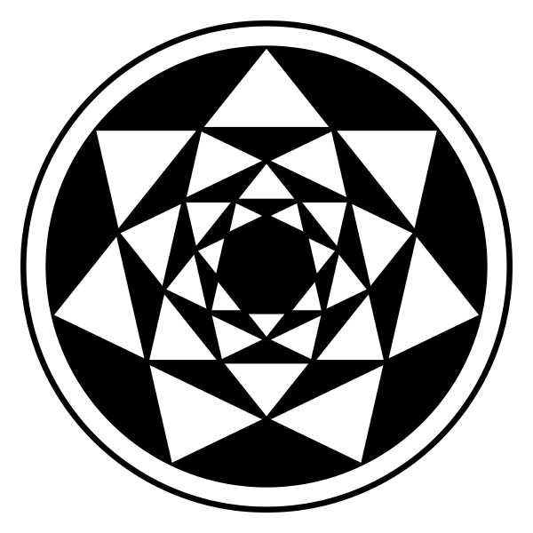 inverted four heptagrams and their