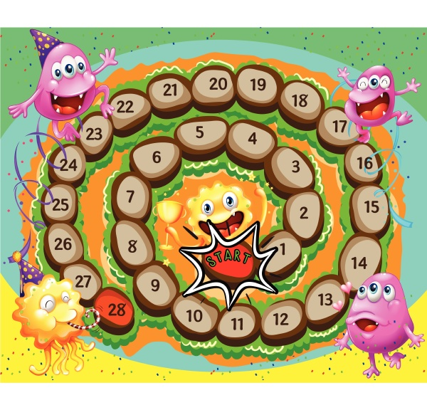 sprial game with monsters