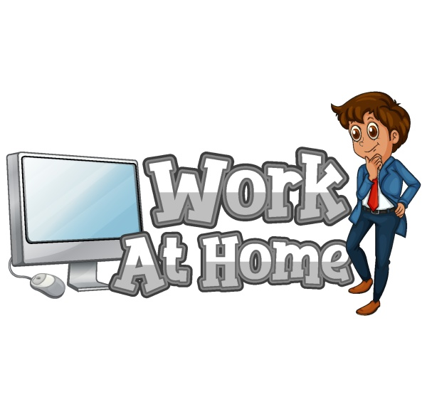 work at home font design with