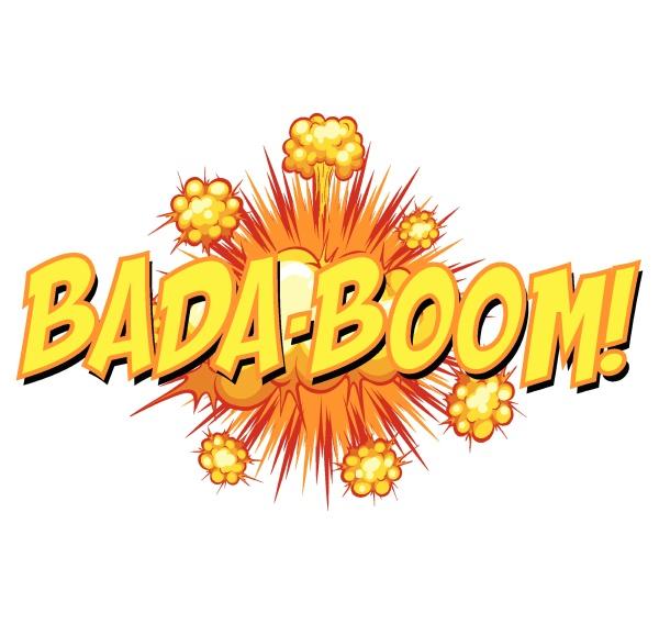 comic speech bubble with bada boom