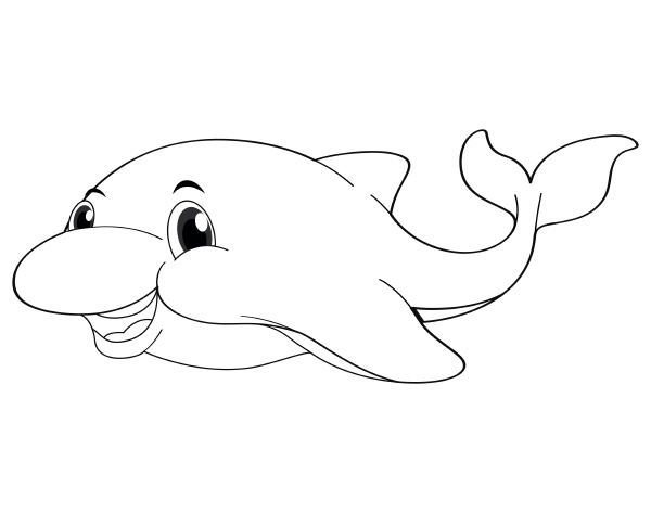 doodle animal for cute dolphin