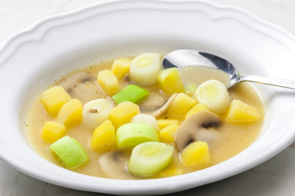still life of vegetables soup with