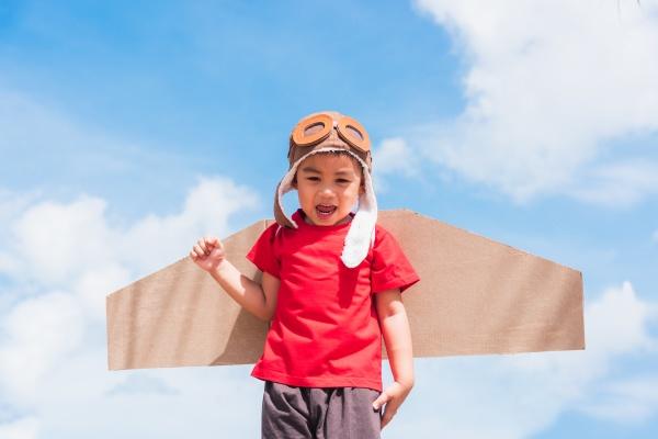 kid little boy smile wear pilot