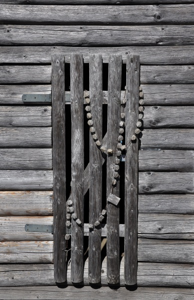 wooden rosary on the chapel on