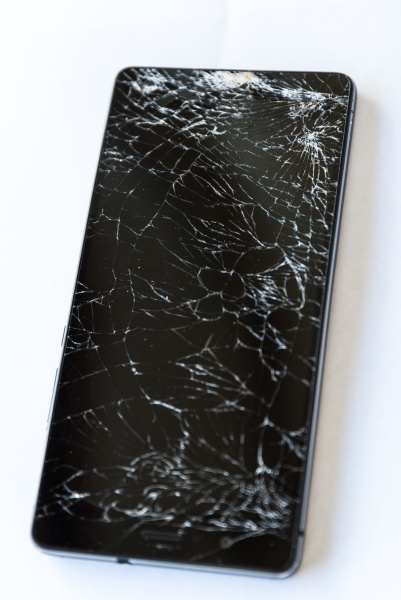 cracked smartphone display cell phone
