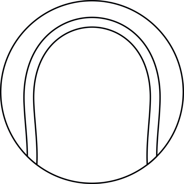 tennis ball icon outline style