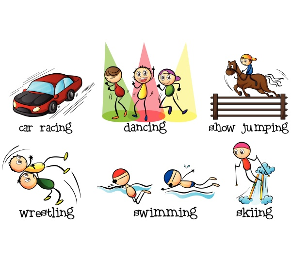 different physical activities