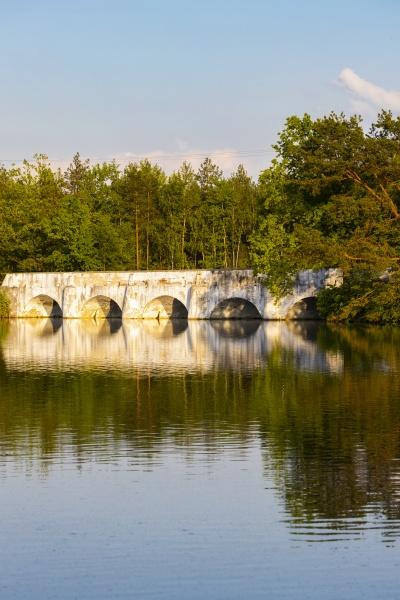 old stone bridge over vitek pond