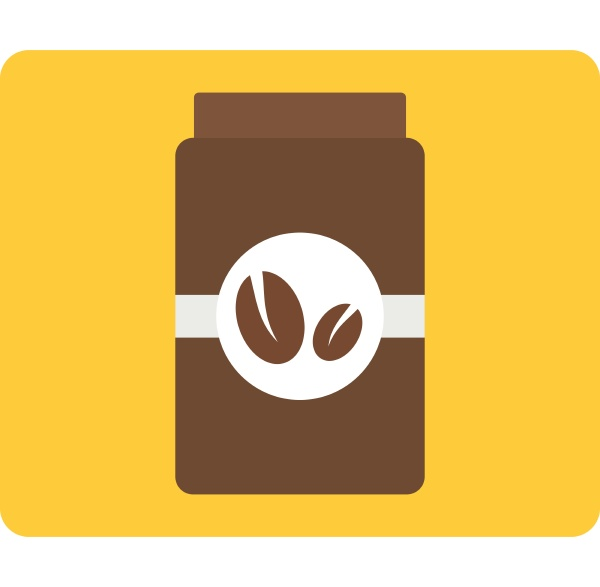brown coffee jar icon isolated