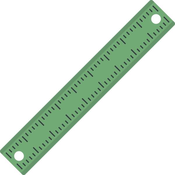 ruler rectangular shape icon isolated