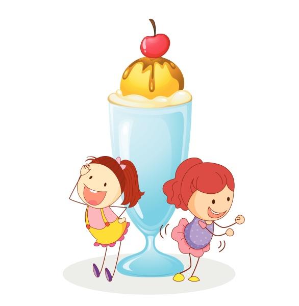 girls and ice cream